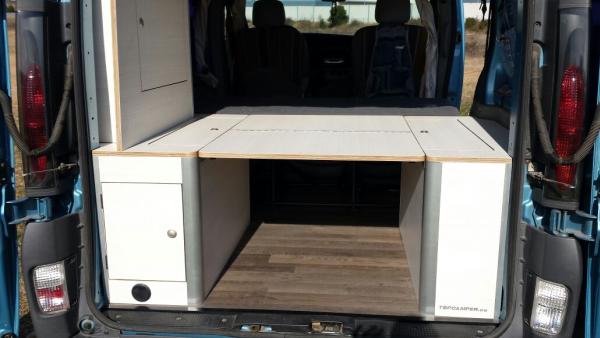 Kit cama para furgonetas con asiento plegable